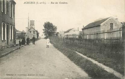 """/ CPA FRANCE 78 """"Achères, rue des Genières"""""""