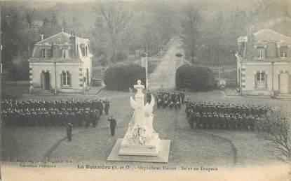 """/ CPA FRANCE 78 """"La Boissière, orphelinat Hériot, salut du drapeau"""""""