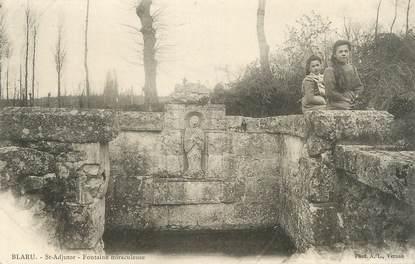 "/ CPA FRANCE 78 ""Blaru, St Adjutor, fontaine miraculeuse"""