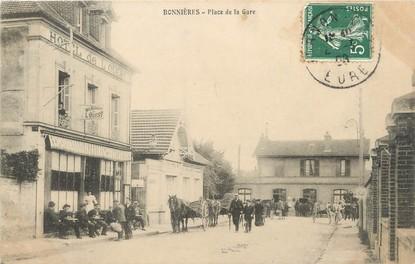"""/ CPA FRANCE 78 """"Bonnières, place de la gare"""""""