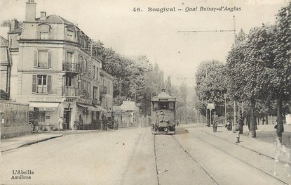 "/ CPA FRANCE 78 ""Bougival, quai Boissy d'Anglas"" / TRAMWAY"