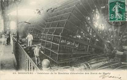 """/ CPA FRANCE 78 """"Bougival, intérieur de la machine élevatoire des Eaux de Marly"""""""