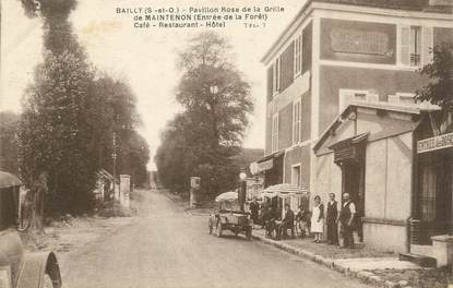 "/ CPA FRANCE 78 ""Bailly, pavillon rose de la grille de Maintenon, hôtel"""