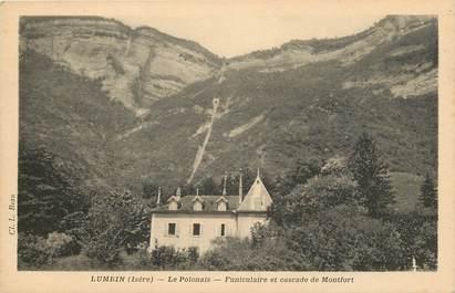 "CPA FRANCE 38 ""Lumbin, funiculaire et cascade de Montfort"""