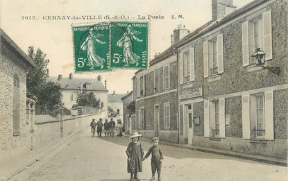 """/ CPA FRANCE 78 """"Cernay la ville, la poste"""""""