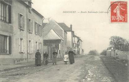 """/ CPA FRANCE 78 """"Drocourt, route Nationale"""""""