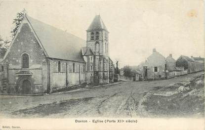 "/ CPA FRANCE 78 ""Davron, église"""
