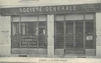 """CPA FRANCE 74 """"Annecy, Banque Société Générale"""""""