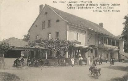 "CPA FRANCE 74 ""Essert, Café restaurant bet Epicerie Mercerie Quiblier"""
