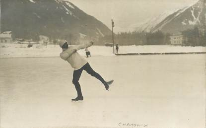 "CARTE PHOTO FRANCE   74 ""Chamonix Mont Blanc, patinage artistique """