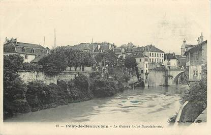 """CPA FRANCE 38 """"Pont de Beauvoisin, le Guiers"""""""