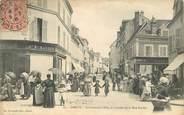 """28 Eure Et Loir CPA FRANCE 28 """"Dreux, le carrefour Billy et l'entrée de la rue Parisis"""""""