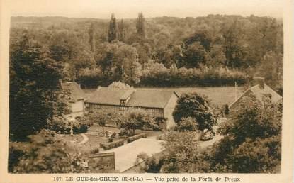 """CPA FRANCE 28 """"Le Gué des Grues, lvue prise de la Forêt de Dreux"""""""