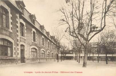 """/ CPA FRANCE 87 """"Limoges, lycée de jeunes filles, Bâtiment des Classes"""""""