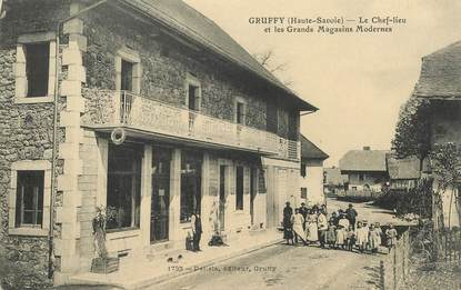 "CPA FRANCE 74 ""Gruffy, les grands magasins modernes"""