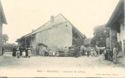 """CPA FRANCE 74 """"Feigères, intérieur du village"""""""