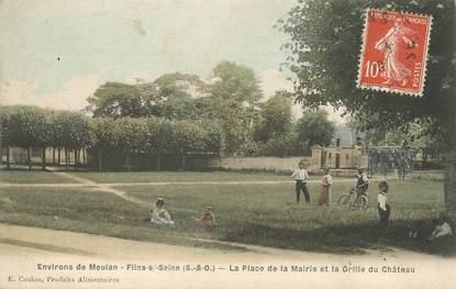 """/ CPA FRANCE 78 """"Flins sur Seine, place du château"""""""