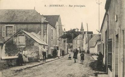 "/ CPA FRANCE 78 ""Hermeray, rue principale"""