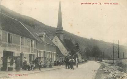 """/ CPA FRANCE 78 """"Jeufosse, route de Rouen"""""""