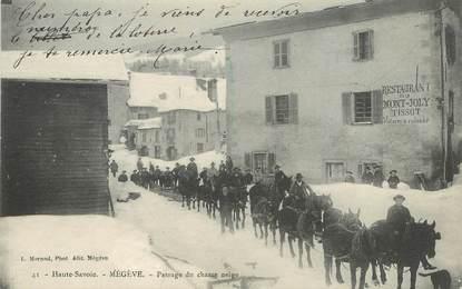 "CPA FRANCE 74 ""Megève, passage du chasse neige"""