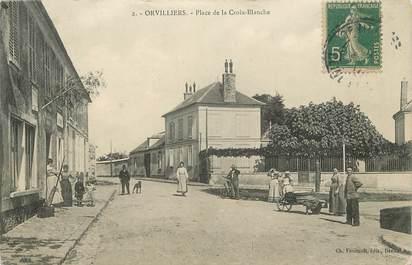 """/ CPA FRANCE 78 """"Orvilliers, place de la croix Blanche"""""""