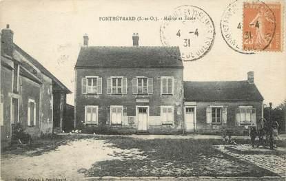 "/ CPA FRANCE 78 ""Ponthevrard, mairie et école"""