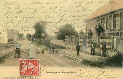 """/ CPA FRANCE 78 """"Crespières, route de Maule"""""""