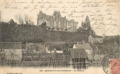 "CPA FRANCE 28 ""Montigny le Gannelon, le chateau"""
