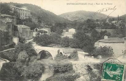 """CPA FRANCE 83 """"Entrecasteaux, pont de Saint Pierre"""""""