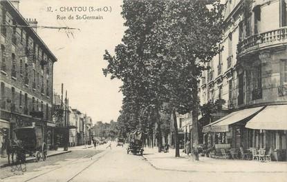 "/ CPA FRANCE 78 ""Chatou, rue de Saint Germain """