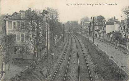"""/ CPA FRANCE 78 """"Chatou, vue prise de la Passerelle"""""""
