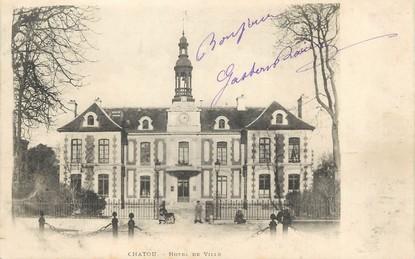 """/ CPA FRANCE 78 """"Chatou, hôtel de ville"""""""