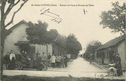 "CPA FRANCE 18 ""Camp d'Avord, bureau de poste et bureau de Tabac"""