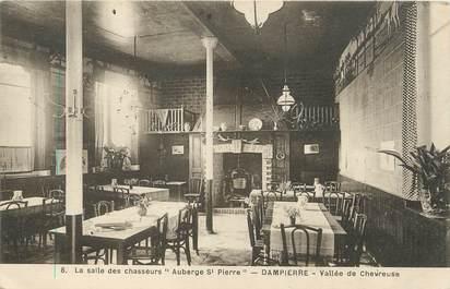 """/ CPA FRANCE 78 """"Dampierre, auberge Saint Pierre, la salle des chasseurs"""""""