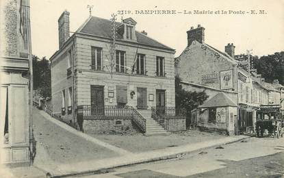 """/ CPA FRANCE 78 """"Dampierre, la mairie et la poste"""""""