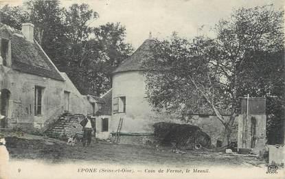 """CPA FRANCE 95 """"Epône, coin de la ferme, le Mesnil"""""""