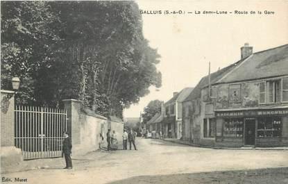 "/ CPA FRANCE 78 ""Galluis, route de la gare"""