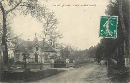 """/ CPA FRANCE 78 """"Gambais, route de Gambaiseuil"""""""