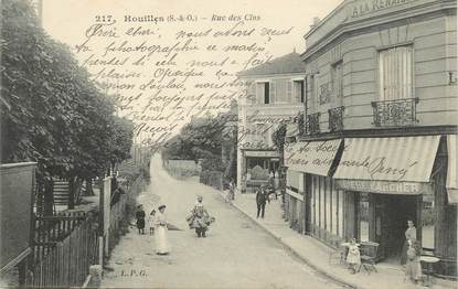 "/ CPA FRANCE 78 ""Houilles, rue des Clos"""