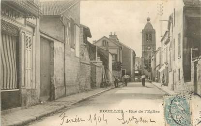 """/ CPA FRANCE 78 """"Houilles, rue de l'église"""""""