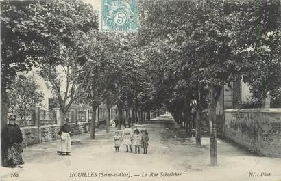 """/ CPA FRANCE 78 """"Houilles, la rue Schoelcher"""""""