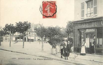 """/ CPA FRANCE 78 """"Houilles, la place Michelet"""""""