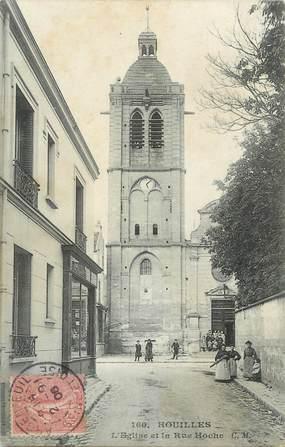 """/ CPA FRANCE 78 """"Houilles, l'église et la rue Hoche"""""""