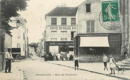 Cpa france 78 houilles rue de pontoise 78 yvelines for Agrandissement maison houilles