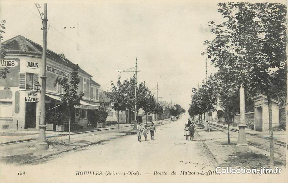 Cpa france 78 houilles route de maisons laffitte for Agrandissement maison houilles