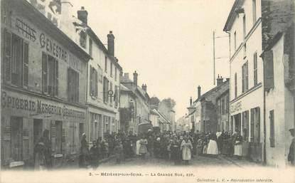 """/ CPA FRANCE 78 """"Mezières sur Seine, la grande rue, Est"""""""