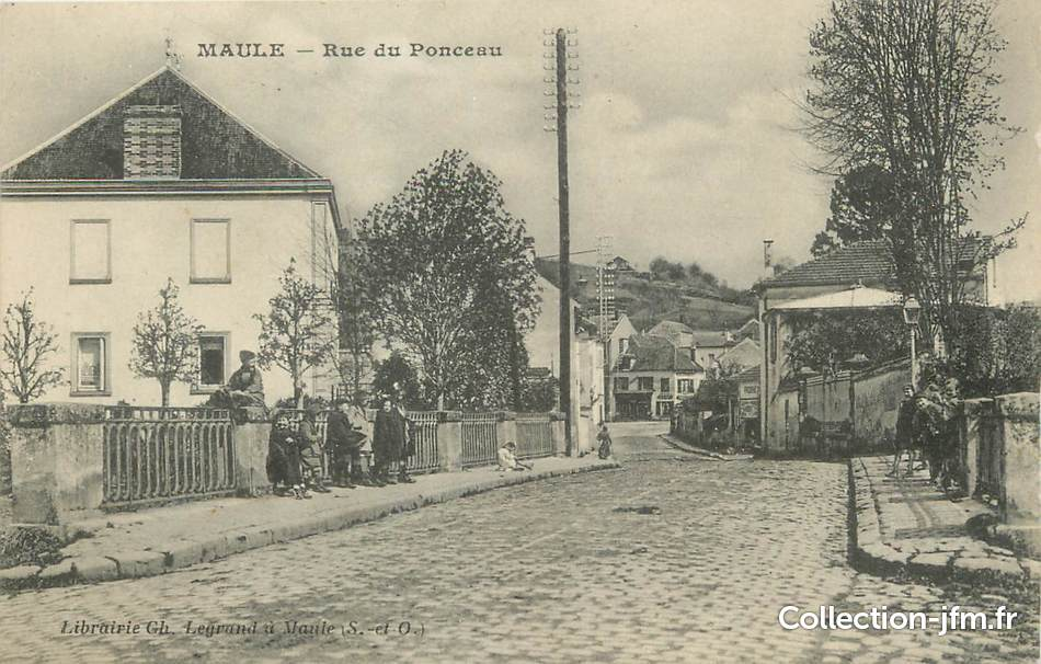 cpa france 78 maule rue du ponceau 78 yvelines