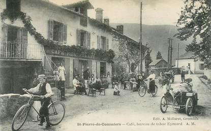"""CPA FRANCE 38 """"Saint Pierre de Commiers, café, bureau de tabac Eymard"""""""