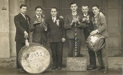 """CARTE PHOTO  FRANCE   38 """"Saint Clair de la Tour, 1931 """""""