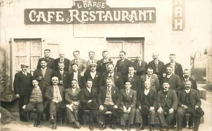 """CARTE PHOTO FRANCE 38 """"Saint Prim, Café restaurant L. Barge"""""""
